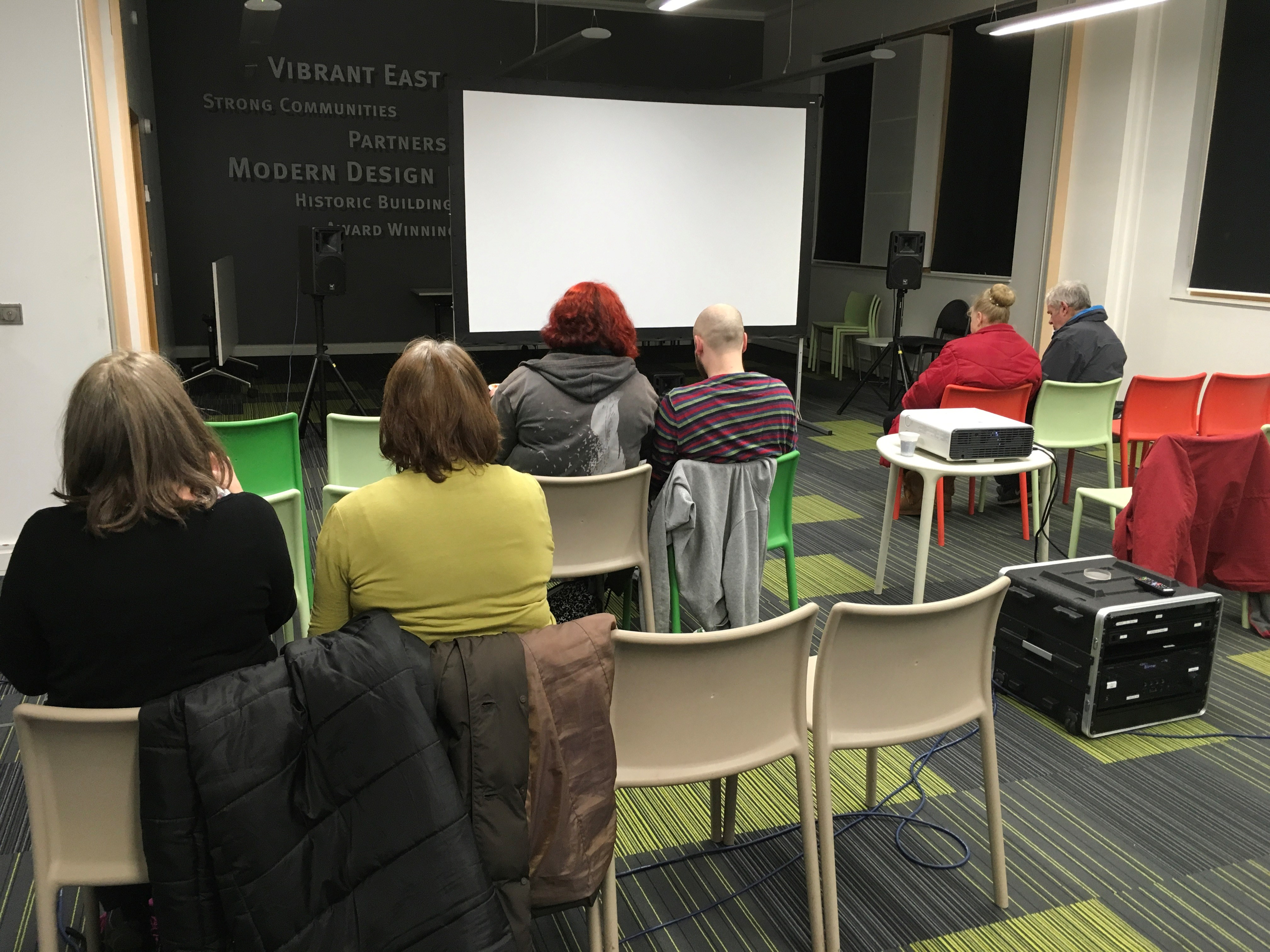 Film screening at the Craigmillar Library in Edinburgh, part of the SLIC Film Education in Libraries project.