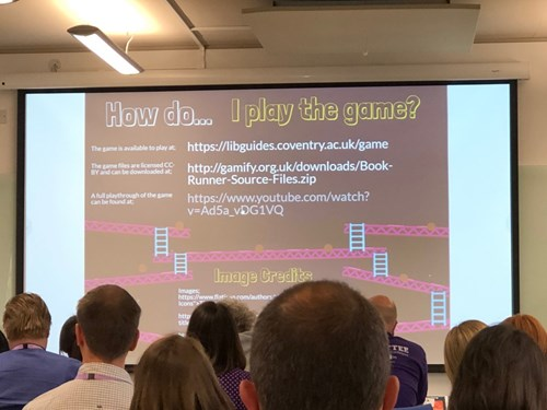 Darren Flynn and Becky Collins from Coventry University at LILAC 2019