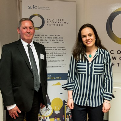MSP Kate Forbes with SLIC Chair Ian Ruthven